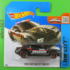 HOT WHEELS 2015 - Ford Mustang GT Concept  -  HW City  - 49  -  neu in OVP
