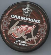 PAUL MacLEAN SIGNED DETROIT RED WINGS 2008 STANLEY CUP CHAMPS HOCKEY PUCK w/ COA