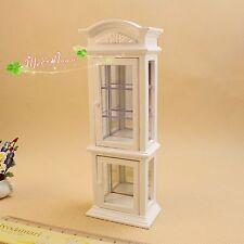 1:12 miniature Puppenhaus Wine white transparent window display cabinets
