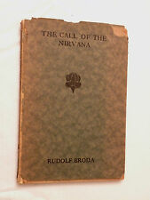 1924, The Call of the Nirvana by Rudolf Broda, 1st Eng Ed, HBw/dj, AUTHOR SIGNED