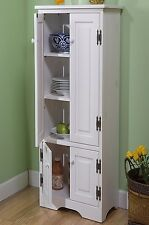 Extra Tall White Cabinet Storage Kitchen Bathroom Bath Room Pantry Organizer NEW