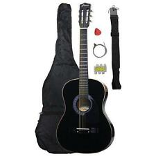 NEW Crescent beginner NATURAL Acoustic Guitar+GIGBAG+STRAP+TUNER+LESSON
