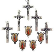 MRT 10 Part Lot Our Lady Of Guadalupe Centerpiece & St Benedict Crucifix Italy
