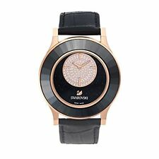 Swarovski Octea Classica asymmetric Black Rose Gold Pink Womens Watches 5095484
