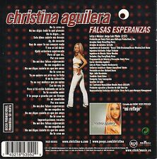 "CHRISTINA AGUILERA ""FALSAS ESPERANZAS"" RARE SPANISH PROMO CD SINGLE WITH LYRICS"