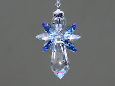 Baby Blue Angel Crystal Suncatcher with Beautiful Swarovski Crystals and Prism