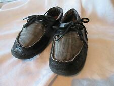 BOBS from Skechers Black & Grey Mini Sequin slip-on boat shoes 9W