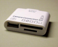 "Cámara Connection-Kit"" 5+1-in-1"" para Apple iPad 1/2/3 puerto USB + SD/Ios 7"