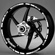 SUZUKI HAYABUSA WHEEL RIM DECALS STICKERS 16 WHITE LAMINATED STRIPES