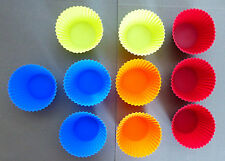 Ustensile de Cuisine - Lot 10 Moules Pâtisserie Muffins CupCake Silicone Neuf