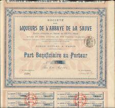 RARE =  part: LIQUEUR DE L'ABBAYE DE LA SAUVE (33) (R)