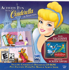 PC CDROM Activity Fun With Cinderella Peter Pan Magical Screensaver Ubisoft