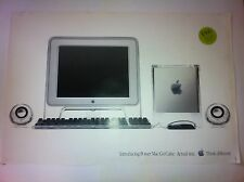 "Vintage Apple Poster Power Mac Macintosh G4 Cube Computer 2000, ""Actual Size"""