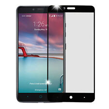 BLACK FULL COVERAGE TEMPERED GLASS SCREEN PROTECTOR FOR ZTE ZMAX PRO Z981