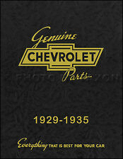 Chevrolet Master Parts Book 1933 1934 1935 Chevy Illustrations and Numbers