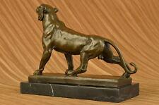 Statue Sculpture Panther Wildlife Art Deco Style Art Nouveau Style Bronze Figure