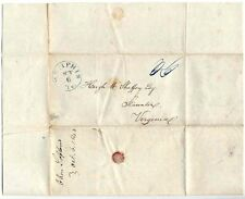 Stampless Cover: To Staunton, VA From Memphis, TN:  Dated October 6, 1843