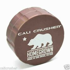 Cali Crusher Homegrown Herb, Spice & Tobacco Grinder Aluminum 2 Piece New Brown