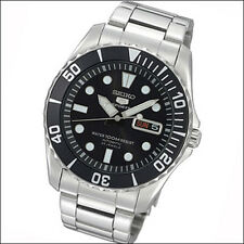 Seiko 42mm 5 Sports Automatic Watch with Stainless Steel Bracelet #SNZF17K1