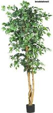 Silk Ficus Tree Artificial Plants House Living Room Decor Office Potted Fake NEW