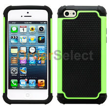 Hybrid Rugged Rubber Matte Hard Case Cover Skin for Apple iPhone 5C Green