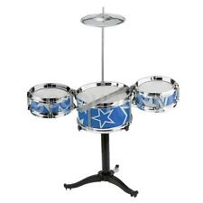 CHILDREN KIDS MINI 3 DRUM W/ STICKS PLAY SET KIT MUSICAL INSTRUMENT TOY BLUE
