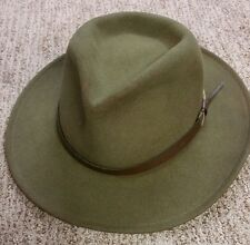 DORFMAN PACIFIC OUTBACK HAT MENS LARGE GREEN WOOL/ FELT