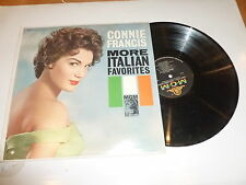 CONNIE FRANCIS - Sings More Italian Favourites - 1960 USA 12-track mono LP