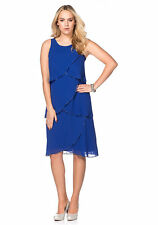Kleid Abendkleid knielang Cocktail Party Club sheego royal blau 48