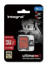 Integral 16GB MicroSDHC Class 10 UHS-I Card - Up to 90MB/s. INMSDH16G10-90/45U1