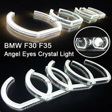 White Crystal SMD Angel Eyes Halo Rings light led For BMW 3's F30 F35 2013-2015