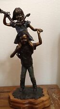 "Boy and Girl Bronze Sculp Leyendecker "" Sneek A Peek"" 16/100 Signed 23.5""X12"""