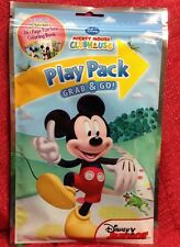 Disney Mickey Mouse Play Pack Grab & Go! Coloring Book Crayons Stickers Travel