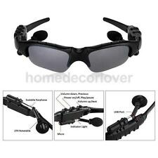 Polarized Lens Bluetooth Eye Glasses Handsfree Headset for Android IOS Grey