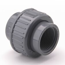 "PVC Union 1 1/4"" BSP 40mm Female Threaded x Plain Pipe Fitting Straight #19R180"