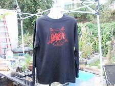 slayer old school red pentagram larg. long sleeve t shirt  666 thrash