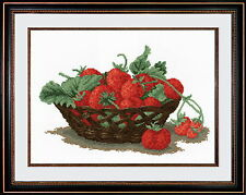 Still Life With Strawberries - Cross Stitch Kit with Color Symbolic Scheme SKU:7