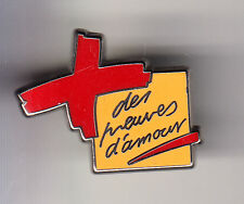 RARE PINS PIN'S .. ONG MEDECINE CROIX ROUGE FRANCAISE ORANGE ARTHUS BERTRAND ~BT