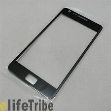 Front Glass Outer Lens Touch Screen Cover for Samsung Galaxy S2 i9100 - Black