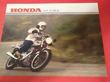 1981 Honda CB400 T Hawk Motorcycle Sales Brochure - Literature