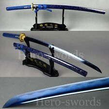 SPECIAL BLUE COLOR BLADE SAMURAI SWORDS New Katana Dragon Tsuba Japanese Knife