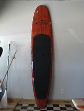 """11'4"""" Redwood Burl Design, Light Weight, Three Brothers Boards SUP Paddle Board"""