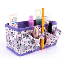 New Makeup Cosmetic Storage Box Bag Bright Organiser Foldable Stationary Contai
