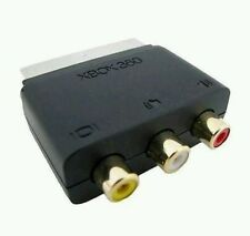 Official Microsoft Xbox 360 block scart adaptor to 3 RCA AV Audio Video Wii PS3