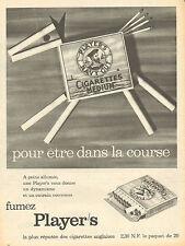 """Publicité Advertising 1960  Cigarettes Player's  """"MEDIUM""""  cigarettes anglaises"""