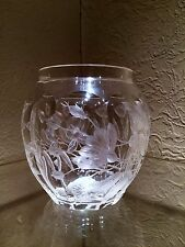 Beautiful Bohemian Czech Moser Intaglio Cut Art Glass Vase