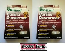 2 Packs of 8in1 40LB SAFEGUARD DEWORMER LARGE DOG WORMER WORM FENBENDAZOLE