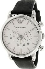 Emporio Armani Men's Classic AR1807 Black Leather Quartz Watch