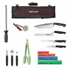 15pc. Professional chef knife kit culinary arts knife kit knife case roll bag