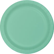 "24 Mint Green Wedding Birthday Party Tableware 7"" Paper Dessert Plates"